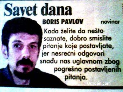 Boris Pavlov, savet