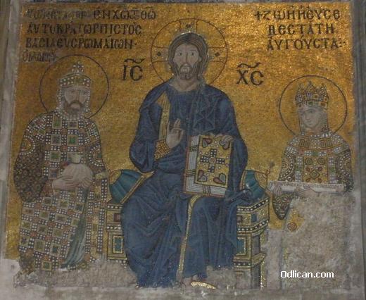 Pozlaceni mozaik, Aja Sofija